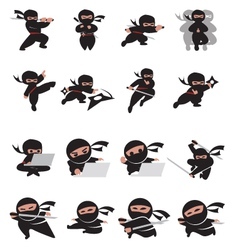 ninja time vector image