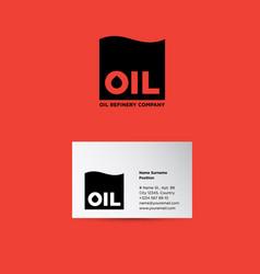 oil refinery company logo vector image