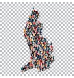people map country liechtenstein vector image