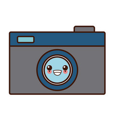 photographic camera symbol cute kawaii cartoon vector image