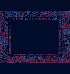 psychedelic abstract frame with bright decorative vector image