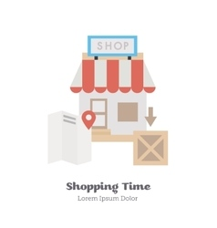 Search the shop on maps vector image