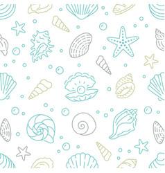 seashell seamless pattern background vector image