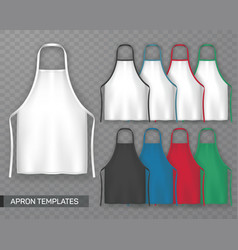 Set of isolated cooking apron or working uniform vector