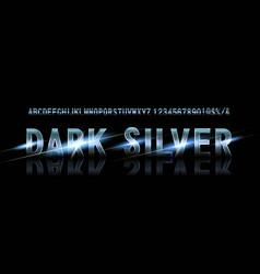 Silver font alphabet vector