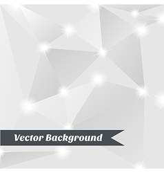 Silver geometric background vector