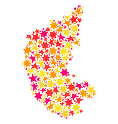 Star collage map of karnataka state vector