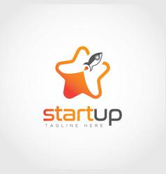 start up icon logo design template creative star vector image