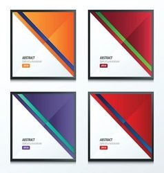 Striped triangle template 2 color set vector