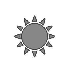 Sun icon Symbol black sunrise isolated white vector image