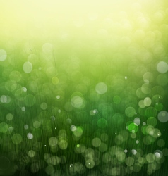 Sunshine light and bokeh nature background eps10 vector image