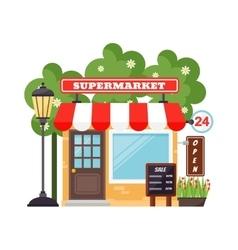Supermarket shop facade vector