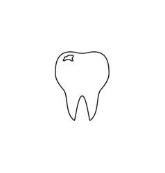 Teeth of bad icon vector