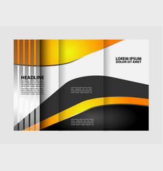 tri fold business brochure design template with ab vector image