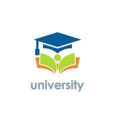 University education graduation hat logo vector