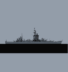 uss long beach cgn 9 guided missile cruiser vector image
