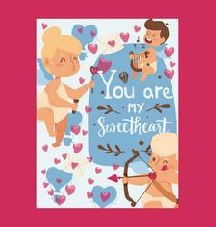 valentine day typographic poster vector image