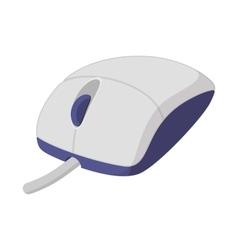 White computer mouse cartoon icon vector