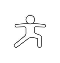 yoga asana line outline icon vector image