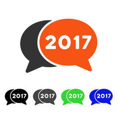 2017 chat flat icon vector image