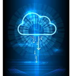Cloud technology modern blue background Clouds vector image vector image