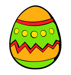 colorful easter egg icon icon cartoon vector image vector image