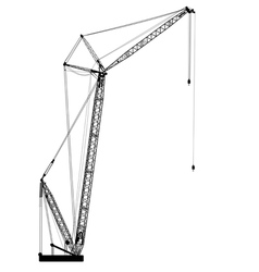 Silhouette of one cranes vector image vector image