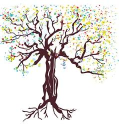 Tree at spring hand drawn vector image vector image