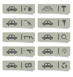 auto service stickers vector image vector image