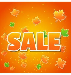 Autumn background with colored leaves vector image