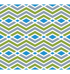 Colorful geometric zigzag seamless pattern vector image vector image