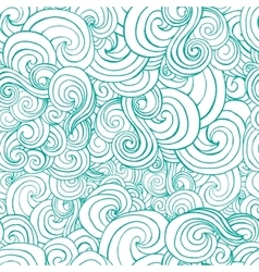 Decorative ornamental turqiouse or blue waves in vector