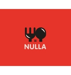 House food logo concept design Home cooking vector image