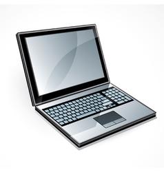 open laptop computer vector image vector image