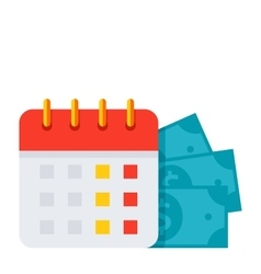 Payment Date Icon vector image vector image
