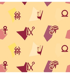 Seamless background with Egyptian symbols vector image