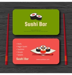 Sushi card vector image