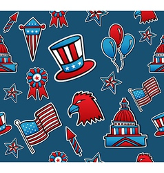 USA seamless pattern background vector image