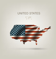Flag of USA as a country vector image vector image