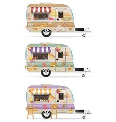 trailer food 04 vector image