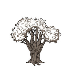 tree hand vector image