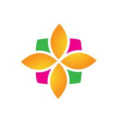 abstract swirl leaf eco icon logo image vector image