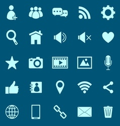 Chat color icons on blue background vector image
