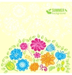 Flowers summer background vector image