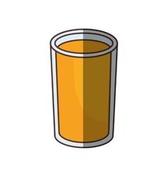 glass cup juice drink shadow vector image vector image