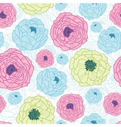 Lovely flowers seamless pattern background vector image vector image