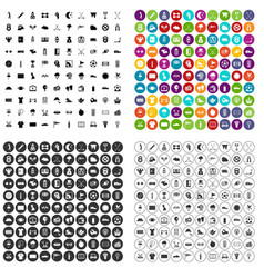 100 golf icons set variant vector
