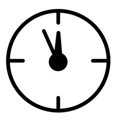 12 oclock year flat icon on white vector
