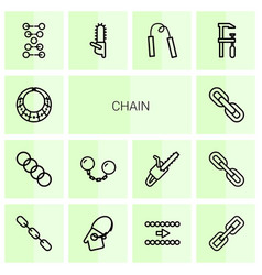 14 chain icons vector