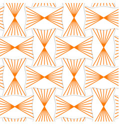 3D orange striped pin will rectangles vector